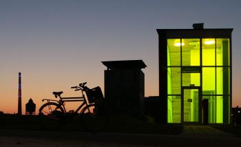 Cibogaterrein in Groningen tijdens 'blauwe uur'