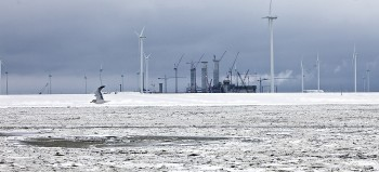 Eemshaven in de winter