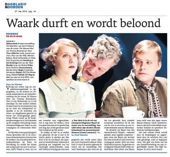 recensie Dagblad vh Noorden van Waark: De nije man