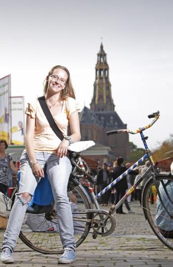 Fietsers in Groningen 2